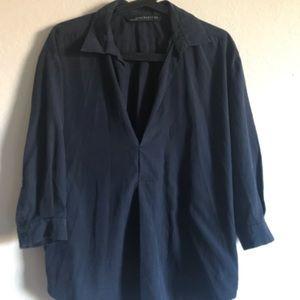 Deep neckline blouse